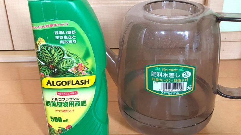 【アルゴフラッシュ販売中止!】液体肥料アルゴフラッシュの効果的な使い方!毎回の水やりであげてもOKです